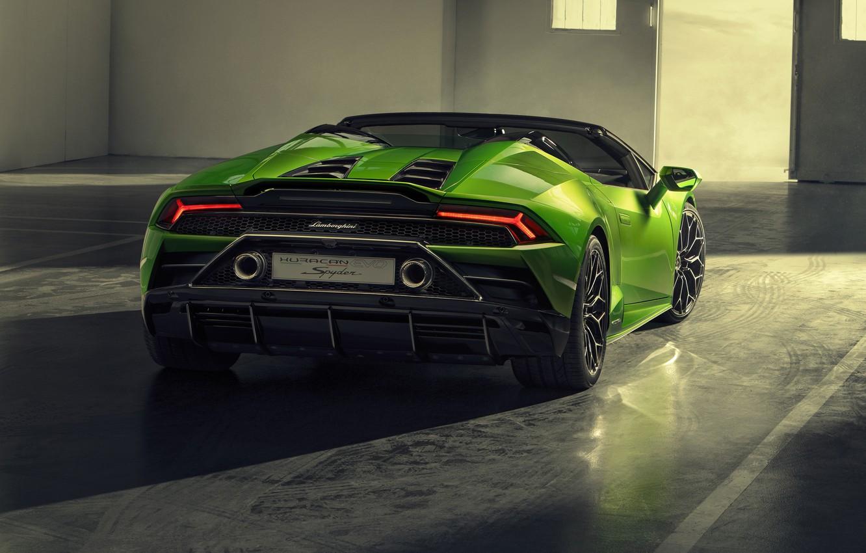 Photo wallpaper Lamborghini, Spyder, Evo, Huracan, 2019, Lamborghini Huracan Evo