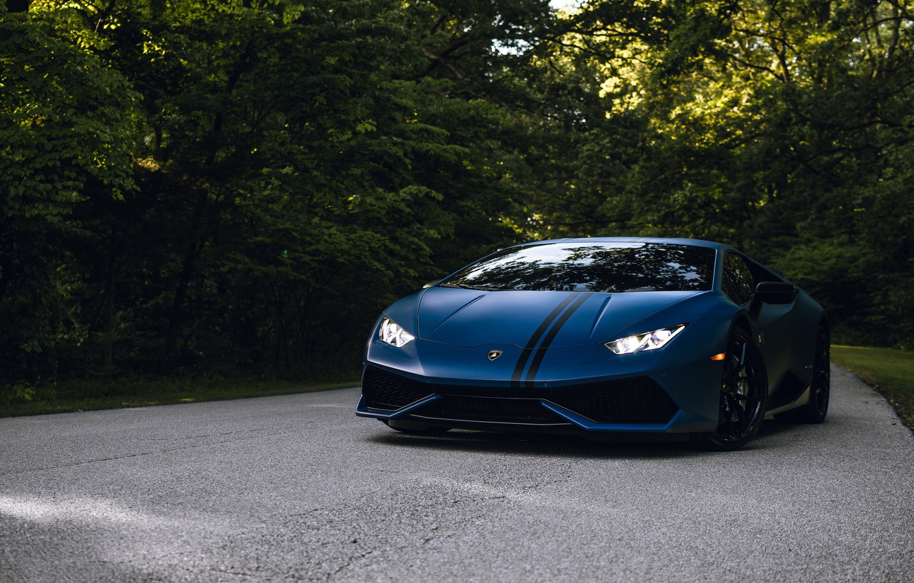 Photo wallpaper Lamborghini, Road, Edition, Forest, Huracan, Avio
