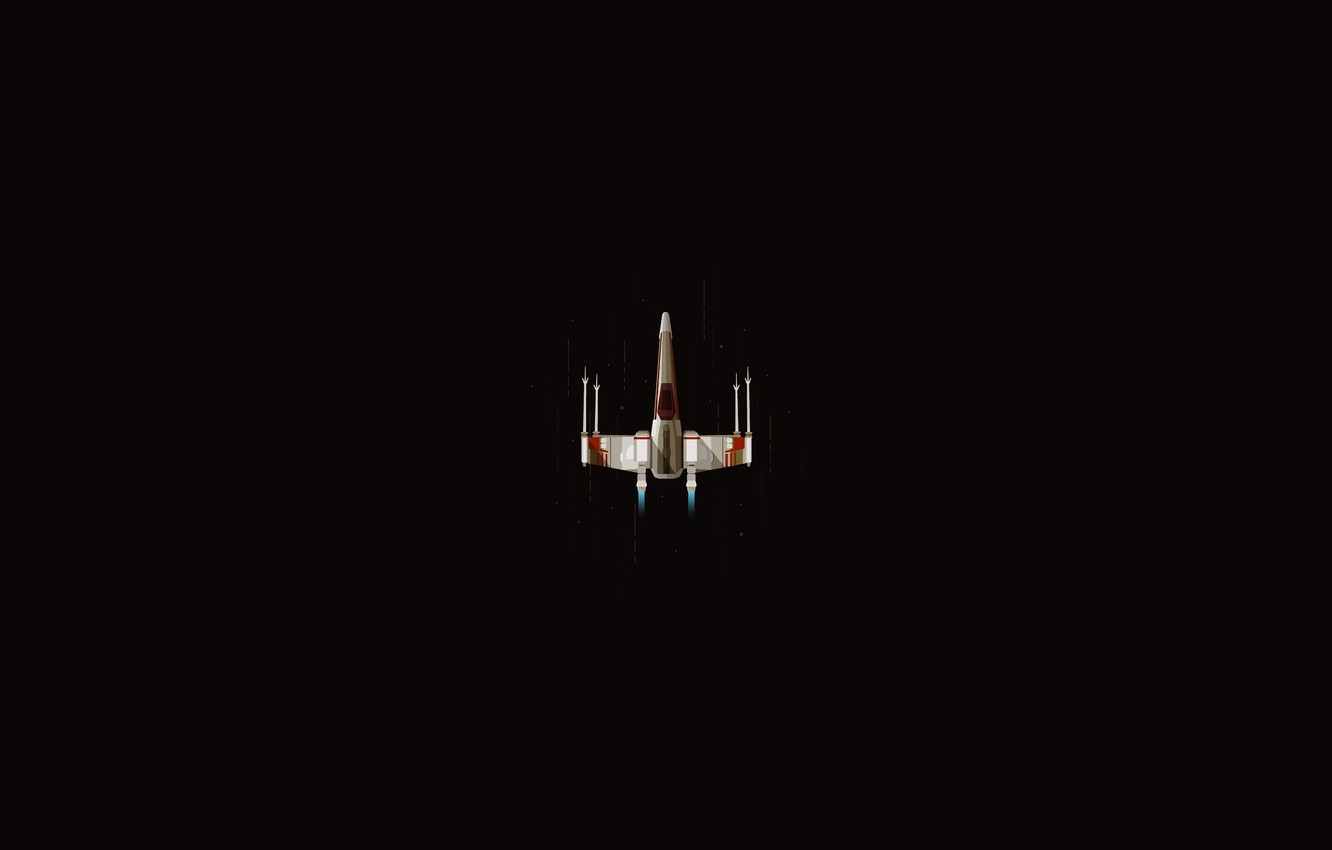 Wallpaper Minimalism Fighter Star Wars Science Fiction X Wing Images For Desktop Section Minimalizm Download