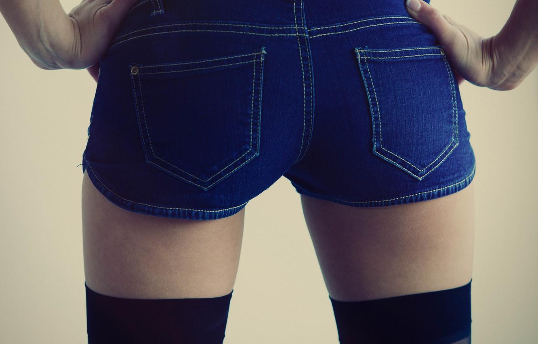 Photo wallpaper ass, shorts, legs, model, jeans, asian, babe, photoshoot, socks, uniform, chic, shorts jeans