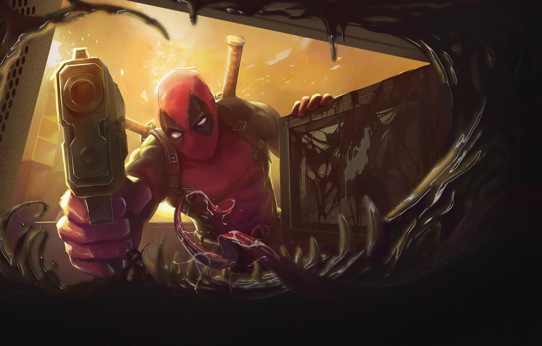 Wallpaper Figure Language Teeth Art Art Deadpool Marvel