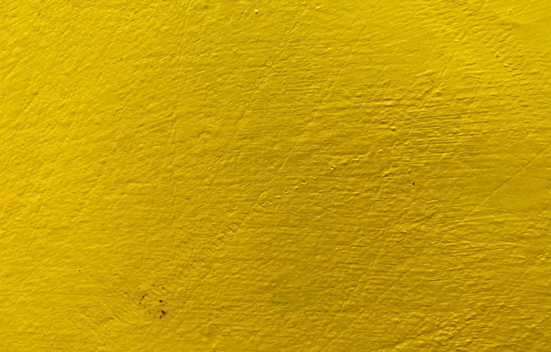 Photo wallpaper yellow, wall, paint, texture, irregularities, roughness