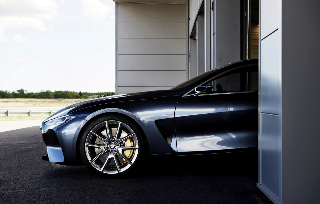 Photo wallpaper coupe, wheel, BMW, the front part, 2017, 8-Series Concept