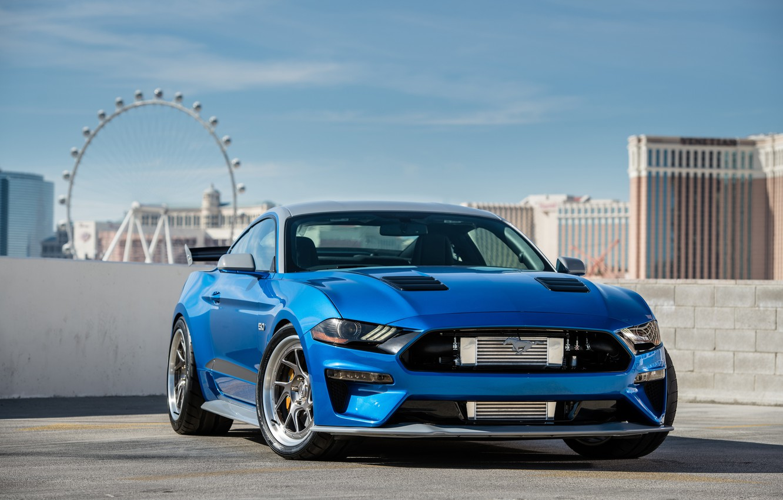Photo wallpaper Ford, 2018, Mustang GT, Bojix Design, SEMA 2018