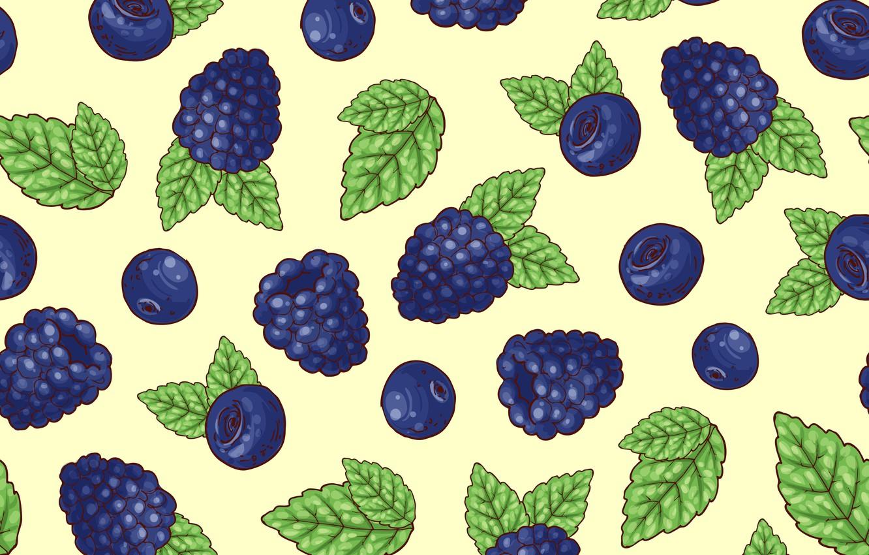 Photo wallpaper berries, background, blueberries