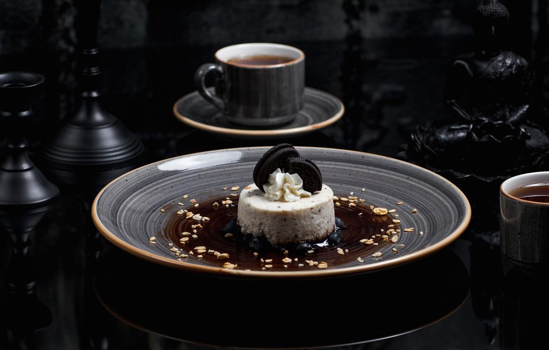 Wallpaper Tea Plate Ice Cream Cup Cake Dessert Syrup