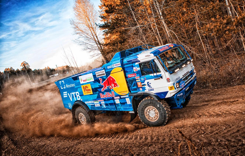 Photo wallpaper Machine, Truck, Master, Russia, Kamaz, Rally, Dakar, KAMAZ-master, Dakar, Rally, KAMAZ, The roads, Best, RedBull, …