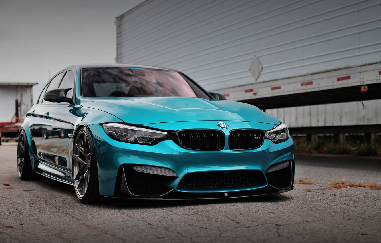 Photo wallpaper BMW, Blue, Predator, F80, Sight, Adaptive LED
