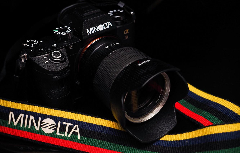 Photo wallpaper the camera, lens, Minolta A9