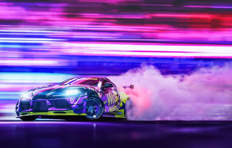 Photo wallpaper Auto, Sport, Machine, Car, Render, Toyota Supra, Rendering, Drifting, Transport & Vehicles, Javier Oquendo, by …