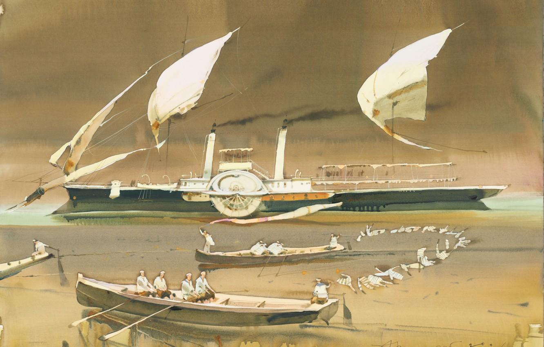 Photo wallpaper boat, ship, Arusha Vozmus, Vest like a Bird
