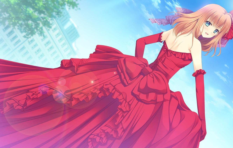 Photo wallpaper look, charm, look, beautiful girl, beautiful girl, the girl in the red, anime art, charm, …