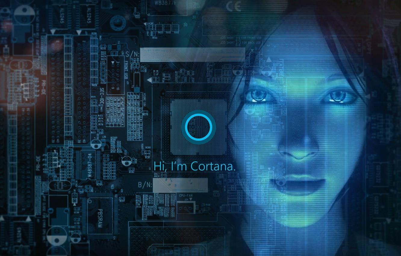 Photo wallpaper girl, windows, Cortana, Windows 10