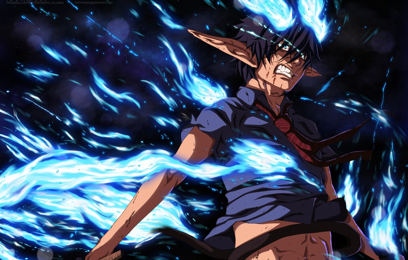 Wallpaper Flame Guy The Demon Ao No Exorcist Okumura Rin