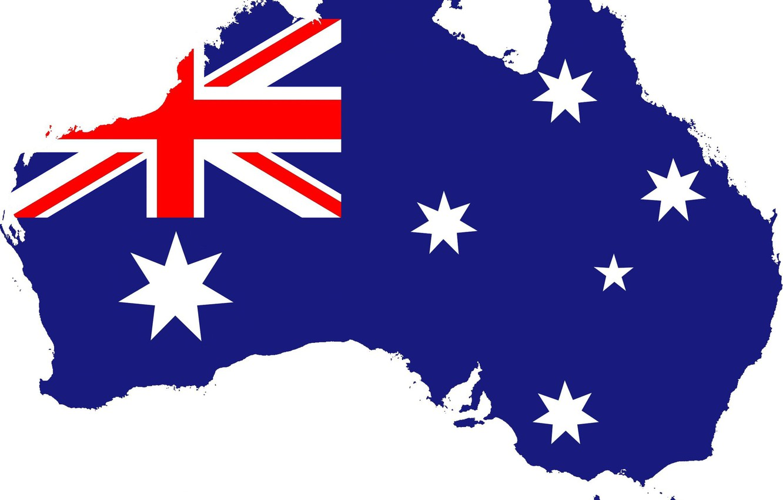 Photo wallpaper flag, Australia, fon, flag, australia, border, cuistom