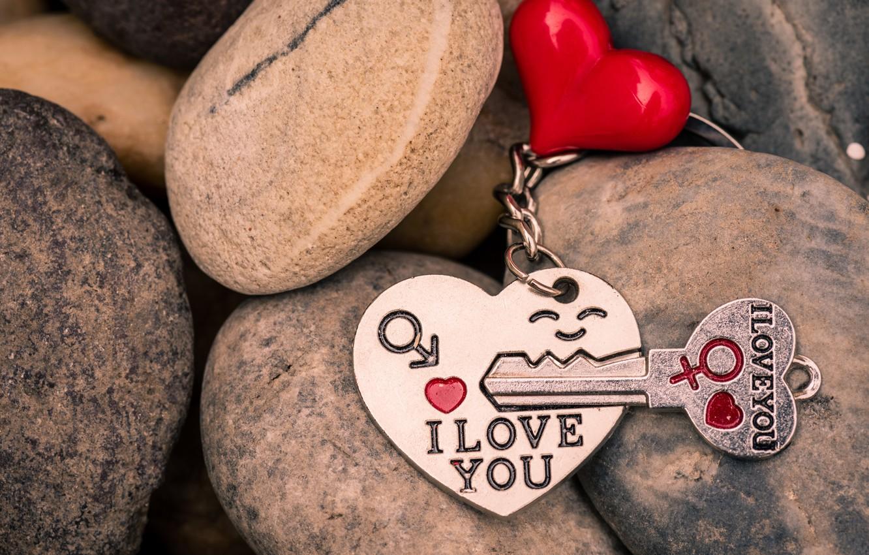 Photo wallpaper love, heart, key, red, love, keychain, heart, key, romantic, I love You