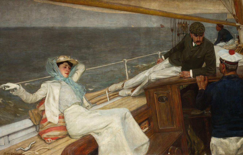 Photo wallpaper Cruise, Cruise, French painter, French painter, Raoul du Hraddya, Raoul du Gardier, Cruise