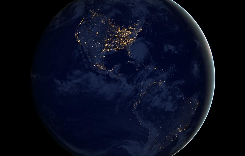 Photo wallpaper darkness, diamonds, America, lights