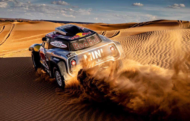 Photo wallpaper Sand, Auto, Mini, Sport, Machine, Car, 308, Rally, Dakar, Dakar, Dunes, Rally, Dune, Buggy, Buggy, …