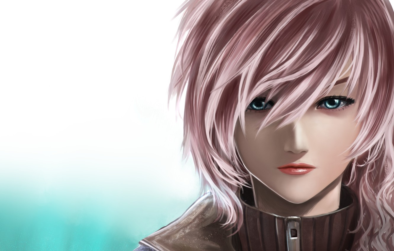 Photo wallpaper girl, sexy, pink hair, eyes, anime, beautiful, short hair, pretty, face, attractive, handsome, mouth