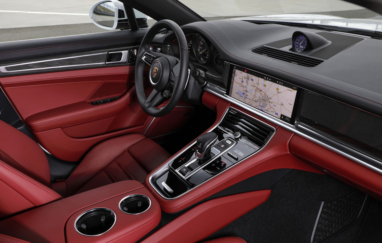 Photo wallpaper interior, Porsche, Panamera, 2021, Panamera 4S E-Hybrid
