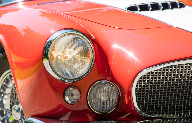 Photo wallpaper Maserati, Lights, Classic, Chrome, 1956, Classic car, Maserati A6G/2000 Gran Sport Spyder