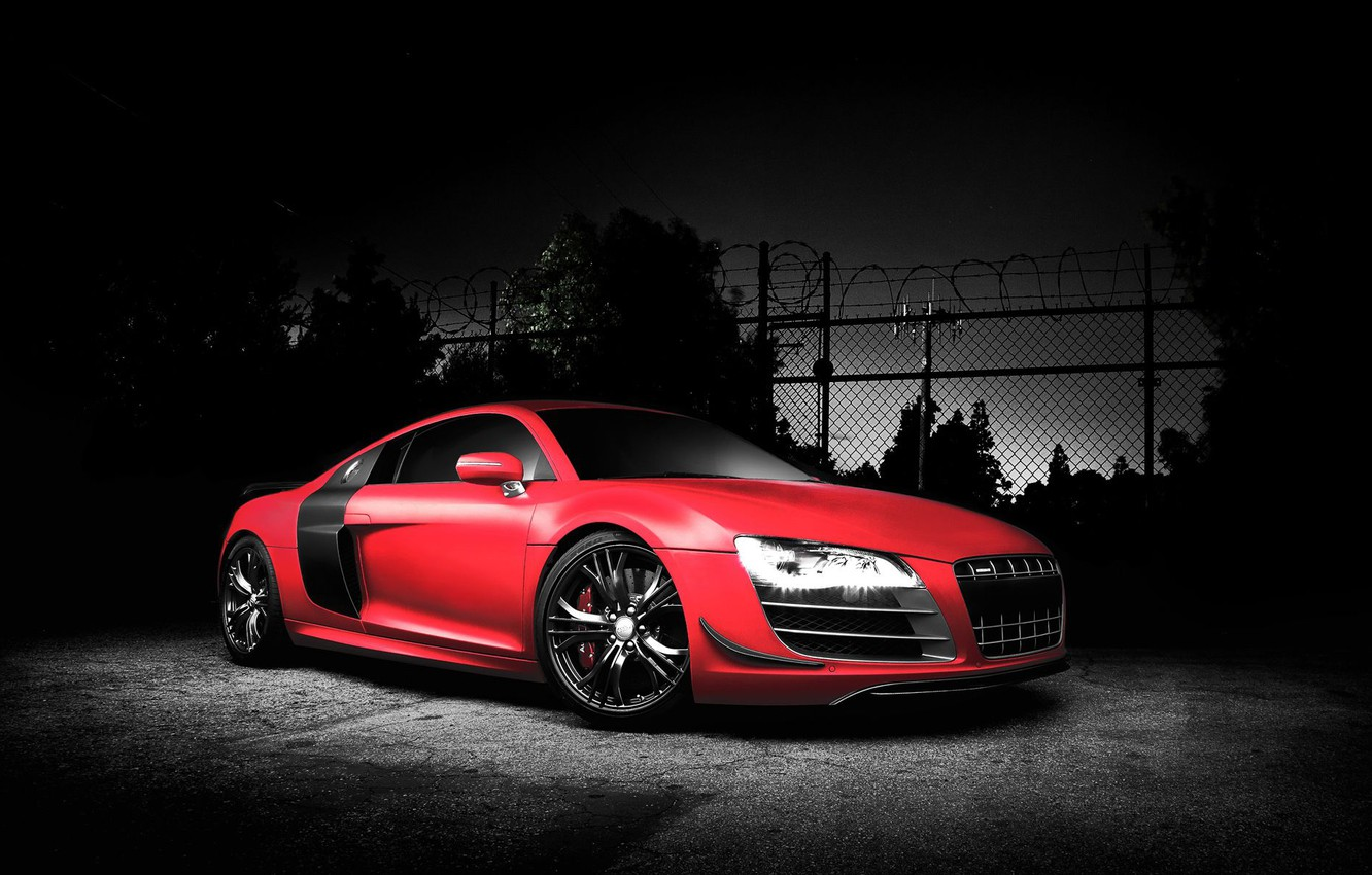 Photo wallpaper coupe, Audi R8, sports car, mid-engined all-wheel drive