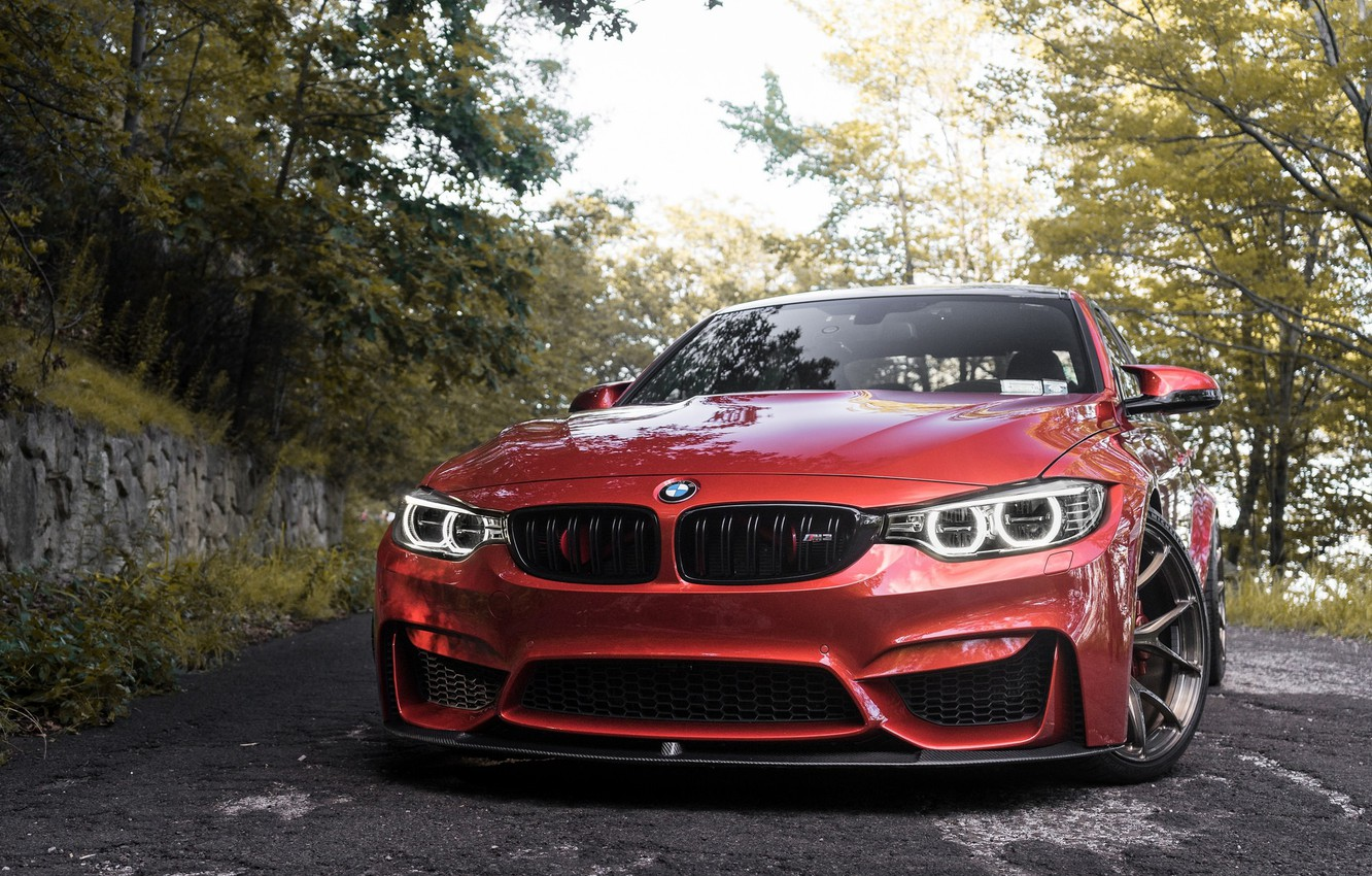 Photo wallpaper BMW, Angel, RED, F80, Sight, LED