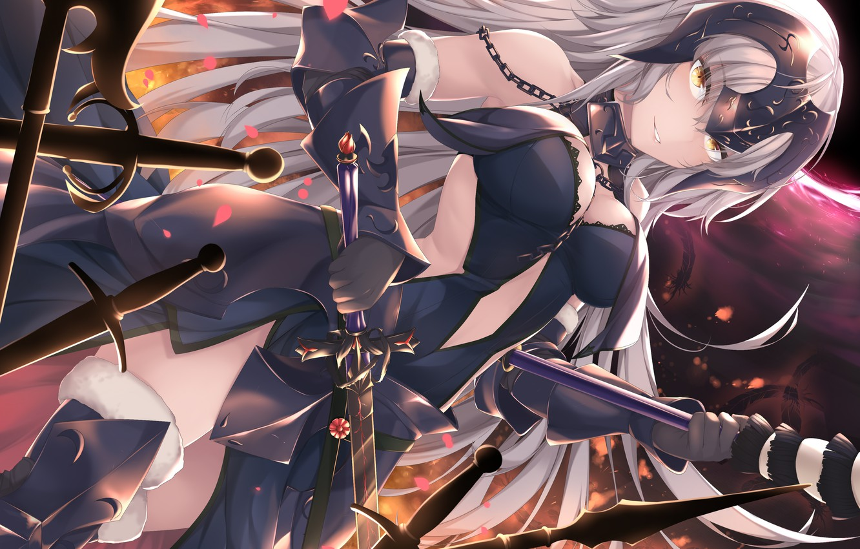 Photo wallpaper fate/grand order, joan of arc, joan of arc alter, kana616, fate series