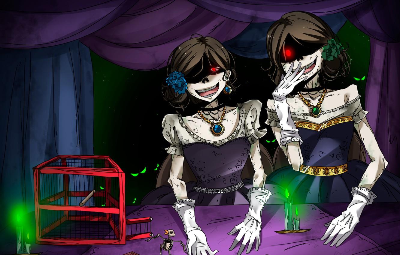 Photo wallpaper girls, cell, skeletons