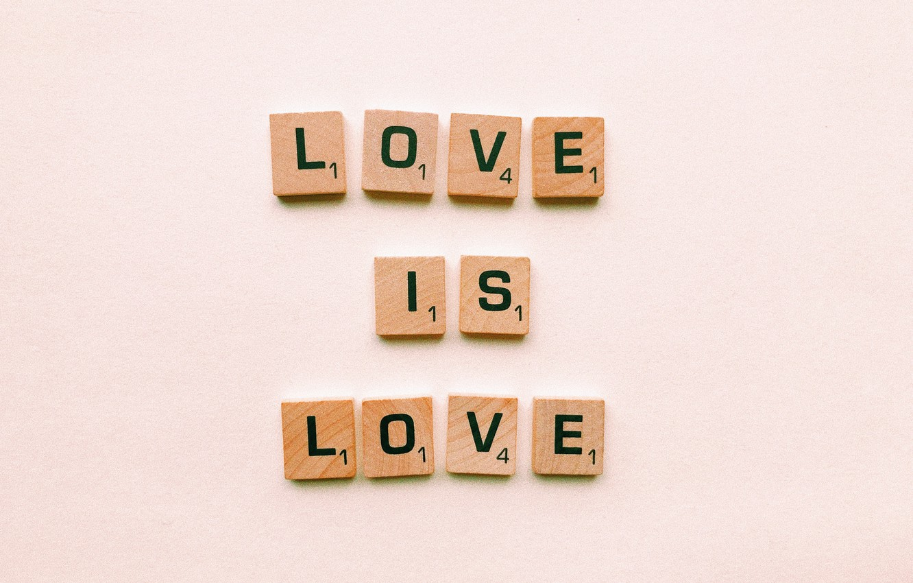 Photo wallpaper love, letters, background, love, words