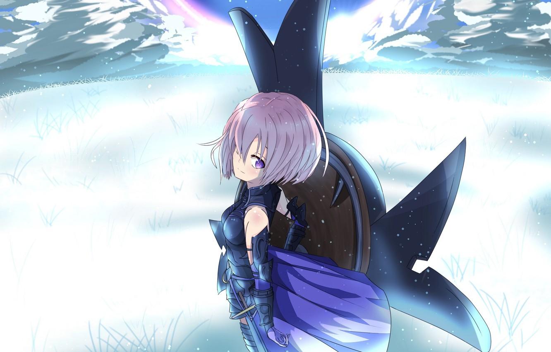 Photo wallpaper girl, shield, Fate / Grand Order