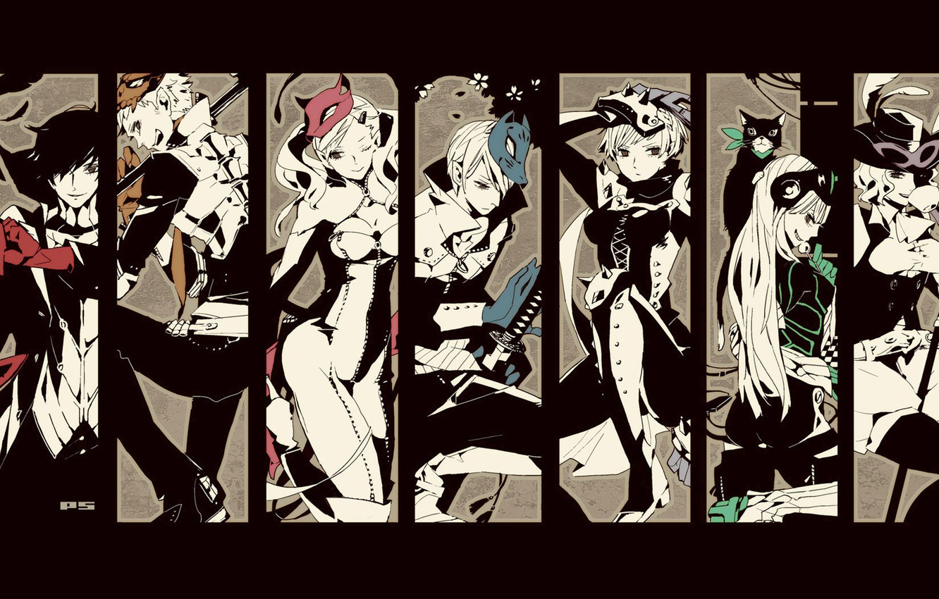 Wallpaper Collage Characters Person 5 Persona 5 Images For