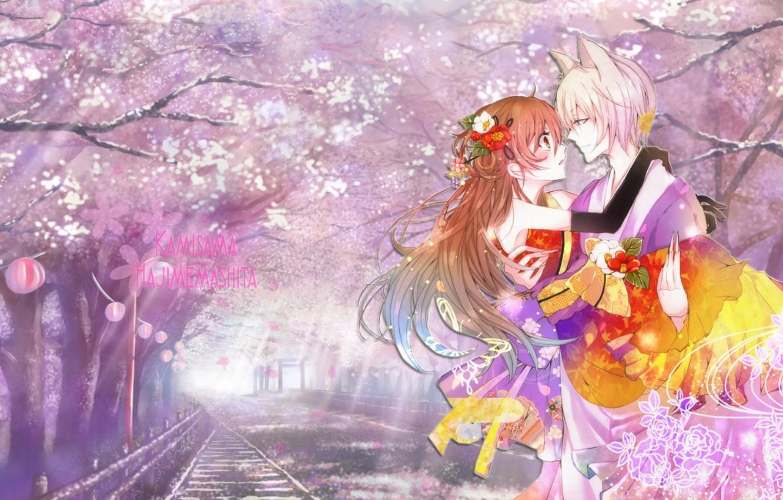 Photo wallpaper art, God, nice, Kamisaa The Hajimemashita, Tomoe, Very nice God, Very, Tomoya, Nanami
