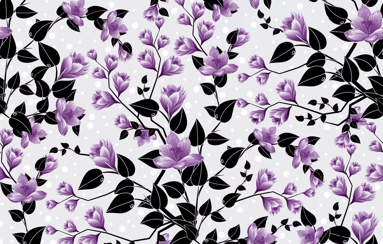 Wallpaper Flowers Background Pattern Buds Background Pattern