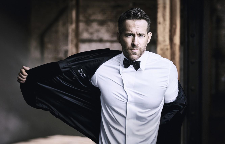 Photo wallpaper look, male, shirt, Ryan Reynolds, jacket