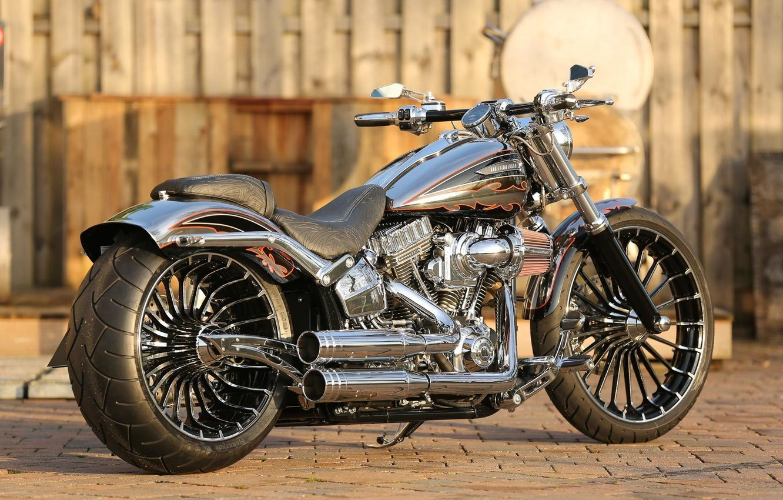 Photo wallpaper Harley-Davidson, Custom, Motorbike, Breakout, H-D, CVO, Thunderbike, FXSBSE