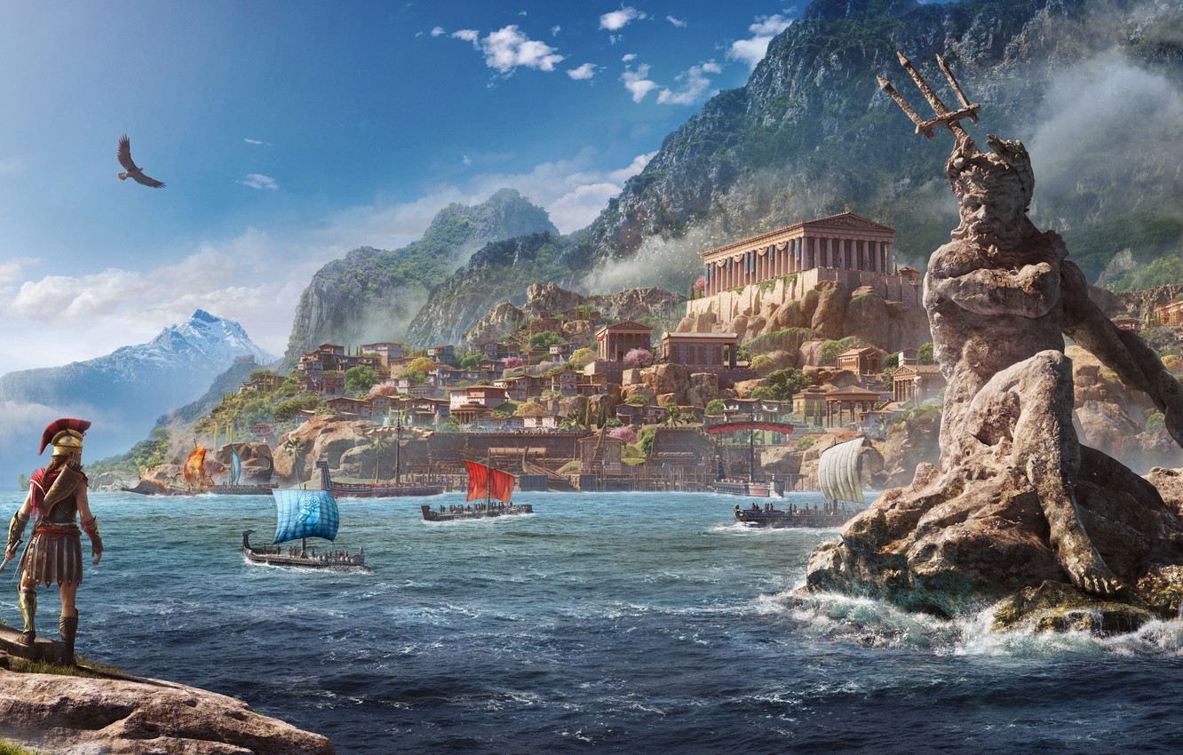 Photo wallpaper Ubisoft, Assassin's Creed, Odyssey, E3 2018, Assassin's Creed Odyssey