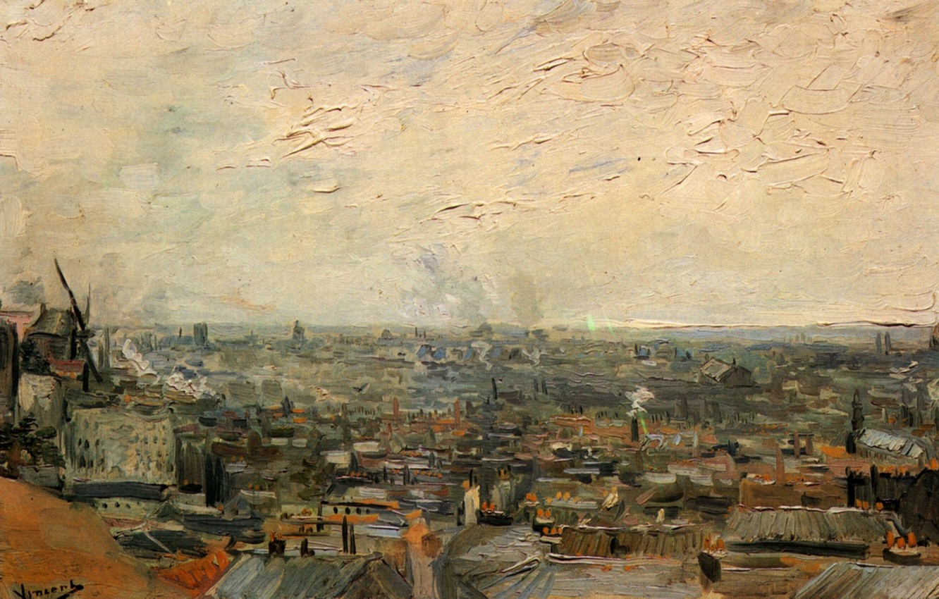 Photo wallpaper Vincent van Gogh, an overview of the city, from Montmartre, View of Paris