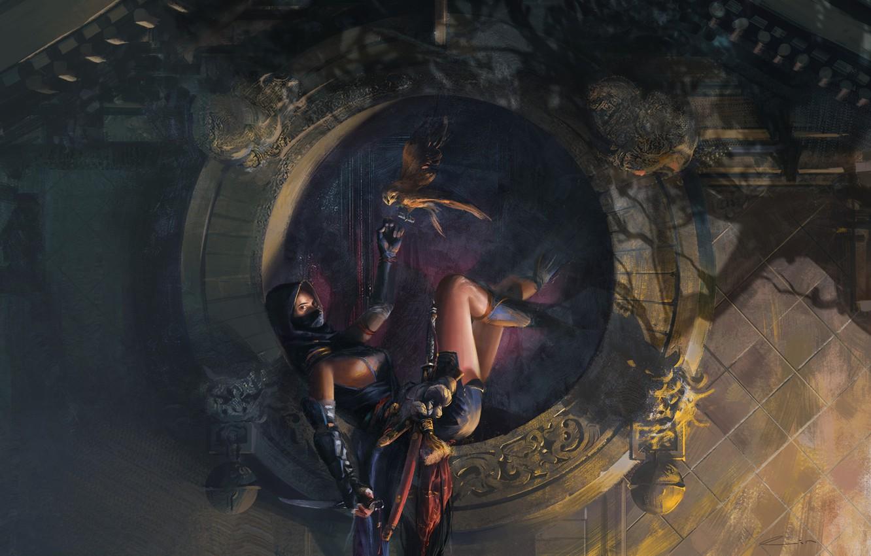 Wallpaper Girl Fantasy Weapon Warrior Assassin Digital