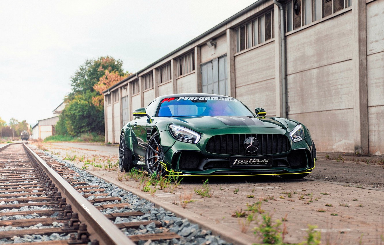 Photo wallpaper Prior Design, GT S, Mercedes-AMG GT S, PRIOR DESIGN, Sports Car, GREEN, MERCEDES AMG GT, …