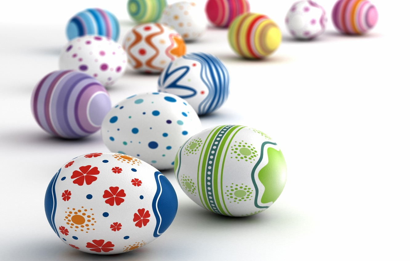 Photo wallpaper holiday, eggs, Easter
