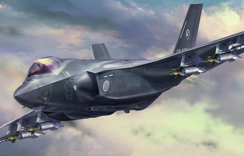 Photo wallpaper Japan, fighter-bomber, JGSDF, Lockheed Martin F-35, Tankro Kato, F-35A Lightning II (A Version) Beast Mode …