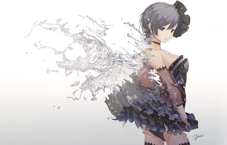 Photo wallpaper water, girl, wings, angel