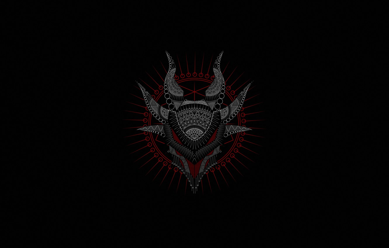 Wallpaper Minimalism Black Style Face The Demon Figure