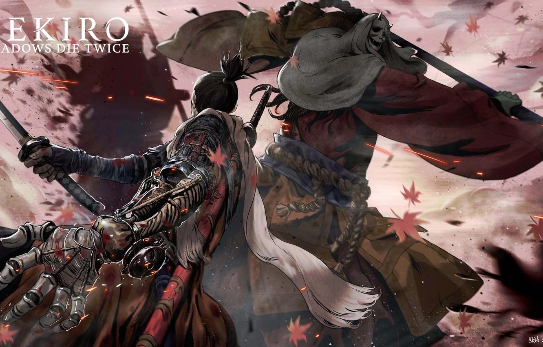 Photo wallpaper leaves, the game, Japan, sword, sword, art, action, prosthesis, the fight, samurai, sinobi, the enemy, …