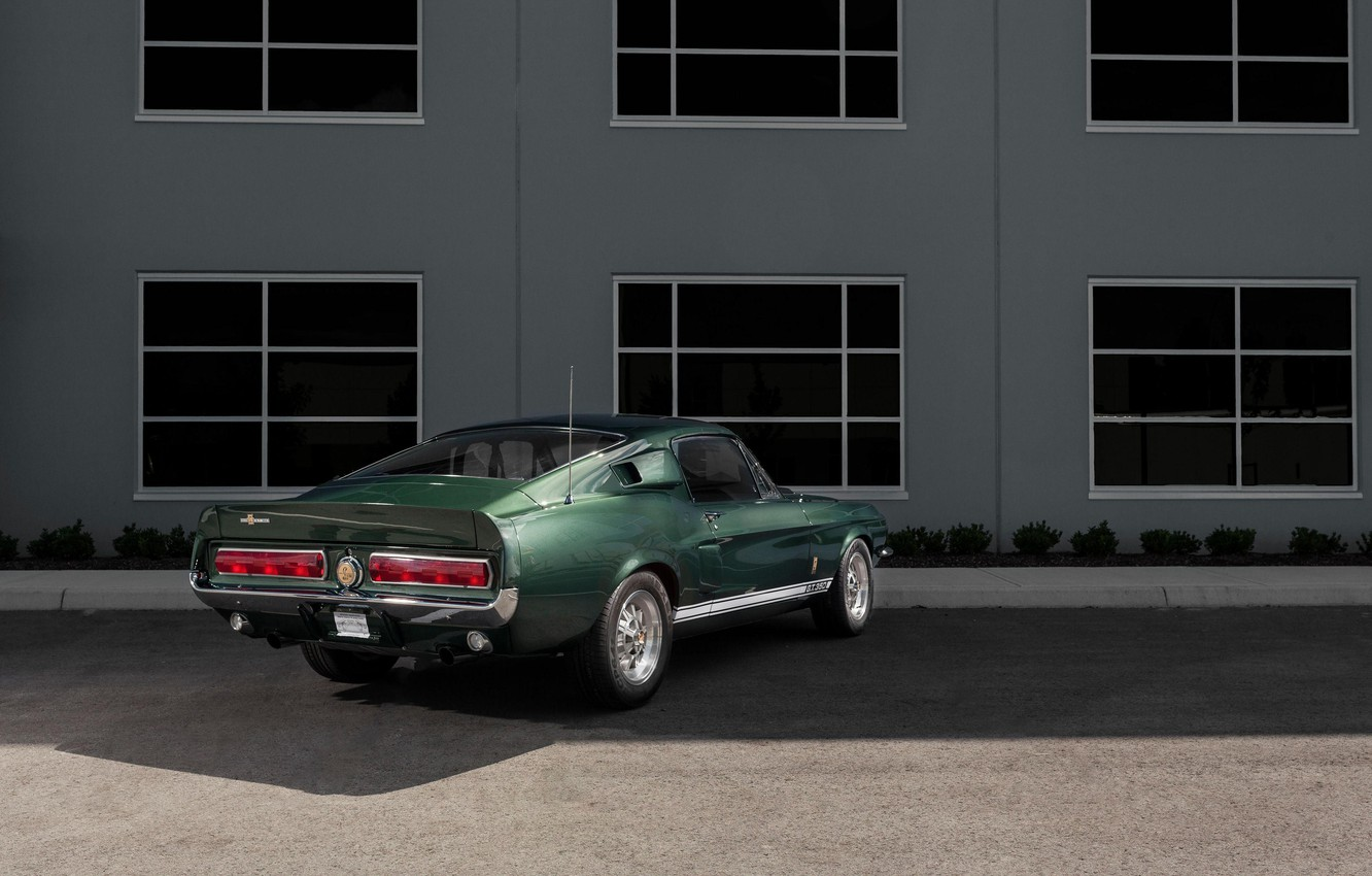 Photo wallpaper Ford Mustang, Green, 1967, Muscle car, Shelby GT350