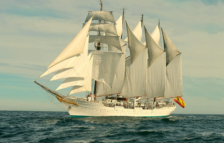 Photo wallpaper sea, romance, sailboat