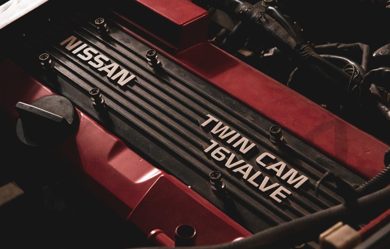 Photo wallpaper nissan, red, silvia, s13, 200sx, engine, nissan 200 sx, ca18det
