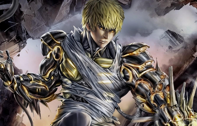 Photo wallpaper anime, art, cyborg, One Punch Man, vanpatten, Genos